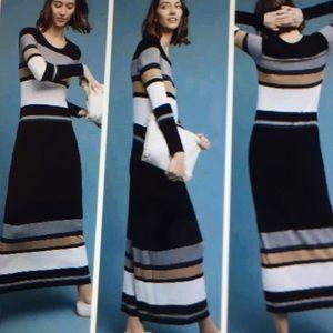 Anthropologie BAILEY 44 Striped Norwich Maxi Dress